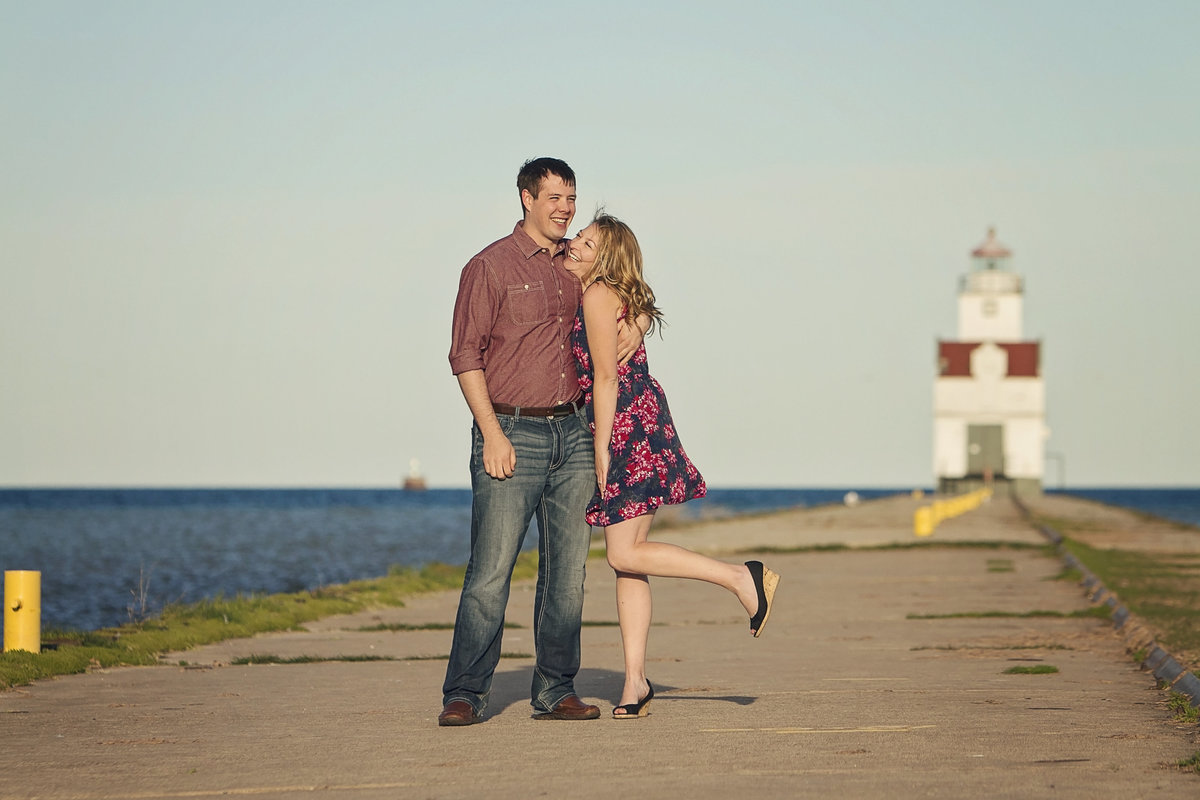 Timeless Door County engagement photos by Green Bay wedding photographer Casi Lea Photography