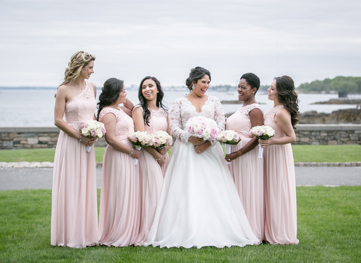 bridal party inspo, bridal party portraits, pink bridal party, pink bridesmaids, pink bridesmaid inspo, pink bridal party insp, beach wedding inspo, new england wedding, new england wedding inspo, ct wedding, ct wedding photographer, ct wedding photography, ct wedding photos, connecticut wedding, connecticut wedding photographer, ct wedding photography, new england wedding photography, new england wedding photographer, new england wedding photos, norwalk ct wedding, norwalk connecticut wedding, wedding day inspo, wedding inspo, lace wedding ballgown, wedding gown, lace wedding gown, lace wedding dress, tulle wedding gown, tulle wedding dress, tulle lace wedding dress, tulle wedding dress inspo, conservative wedding gown, conservative wedding dress, conservative wedding ballgown