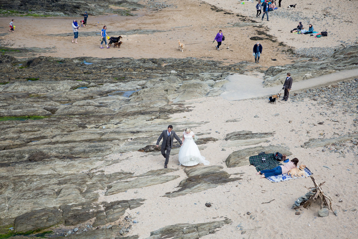 cornwall beach surf wedding