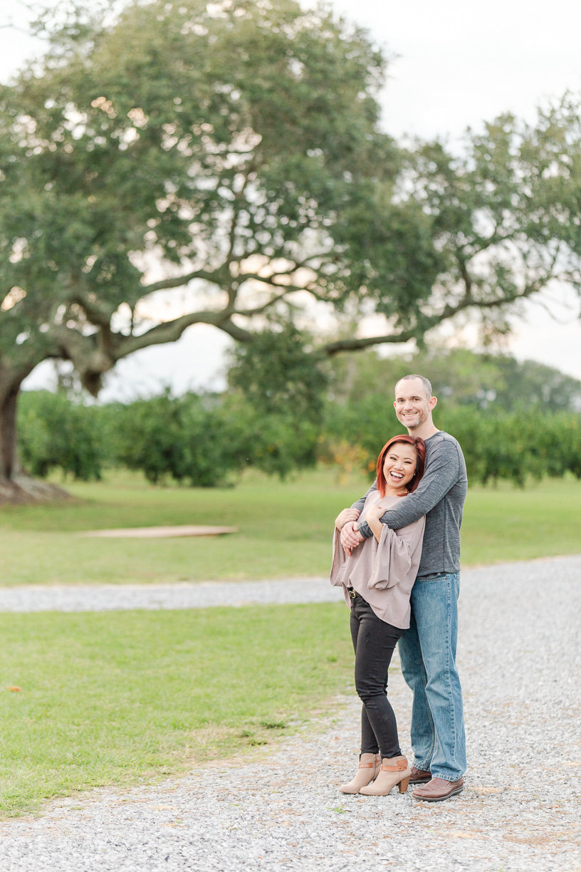 the orchard at hayes farm engagement session
