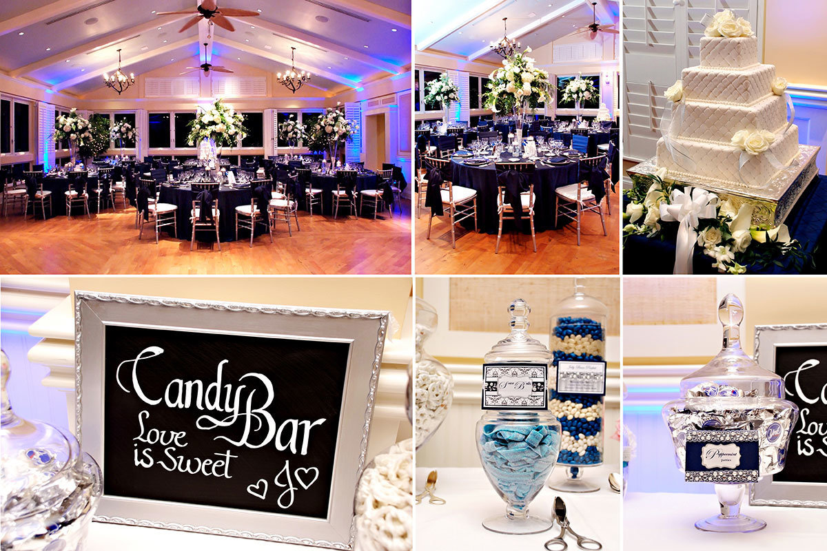 ritz carlton naples florida beach house wedding reception candy bar