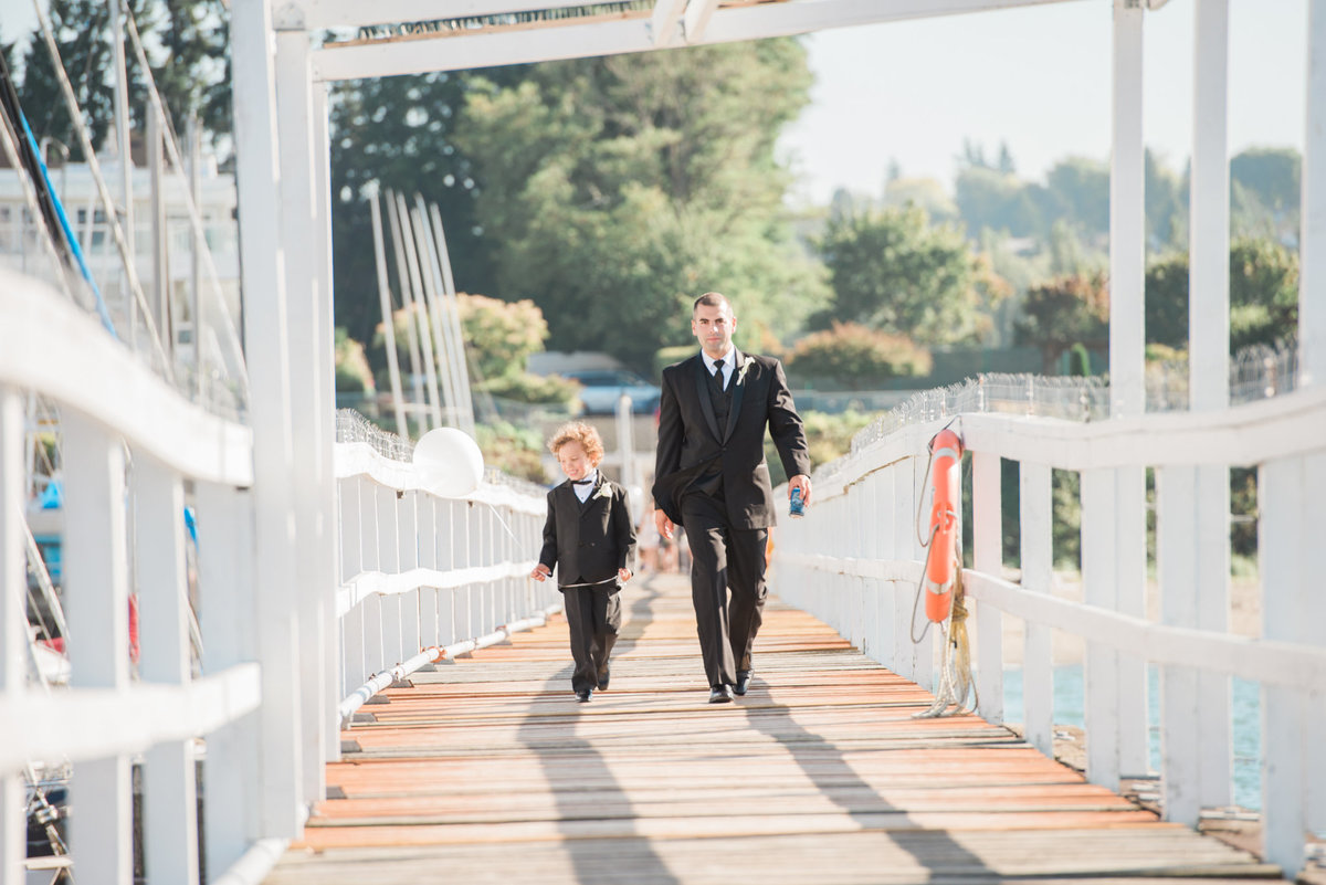 groomsmen at  Vancouver Yacht Club wedding