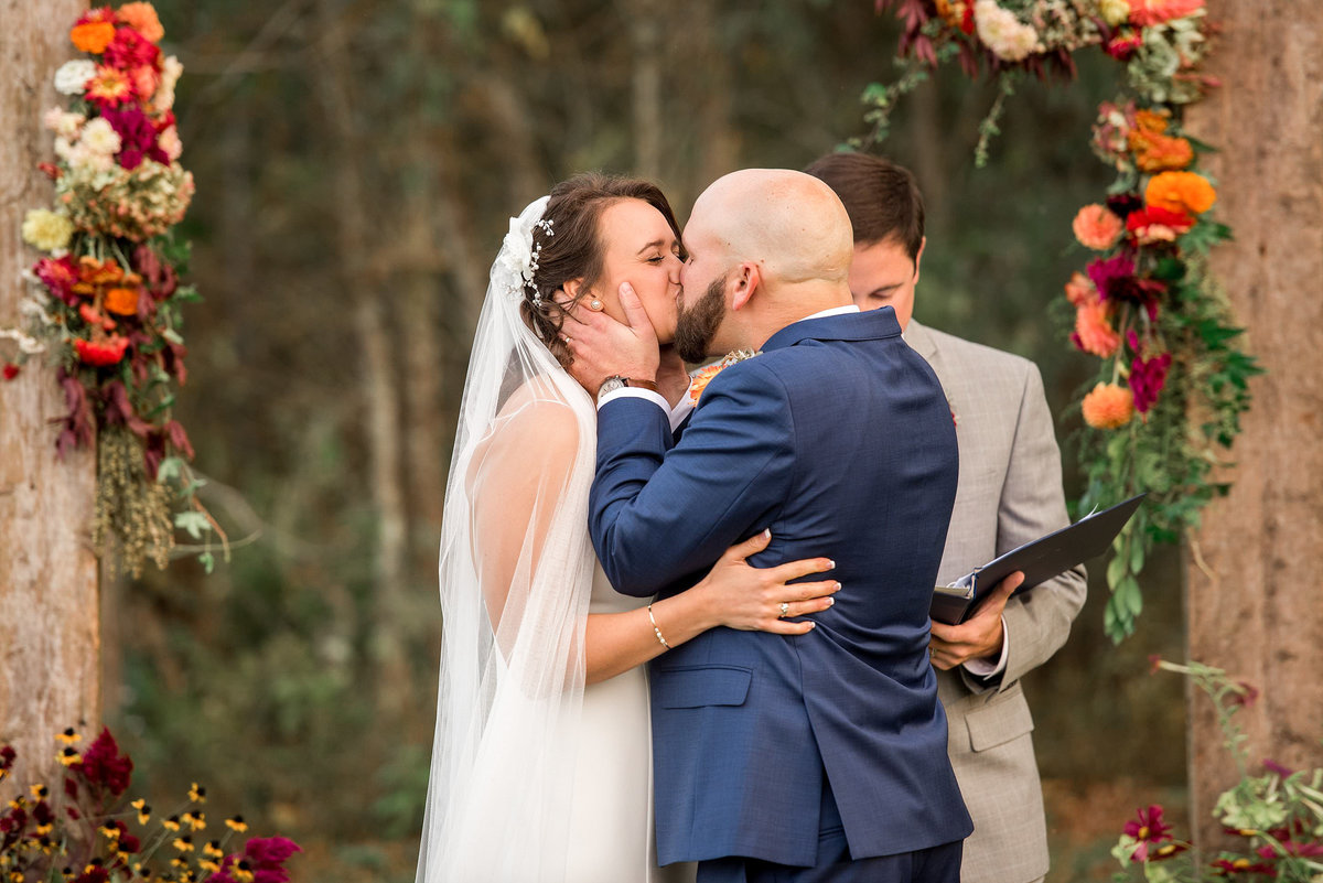 ceremony-first-kiss-murfreesboro-wedding