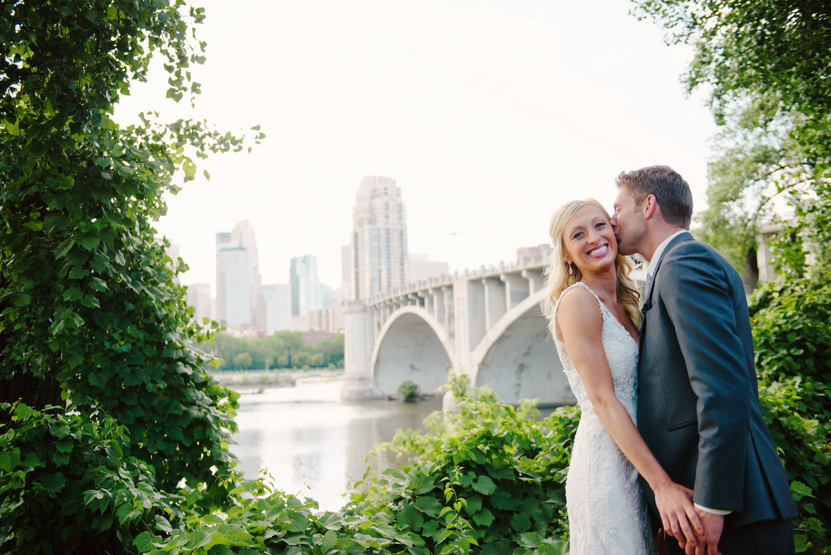 Minneapolis Skyline Wedding Portrait