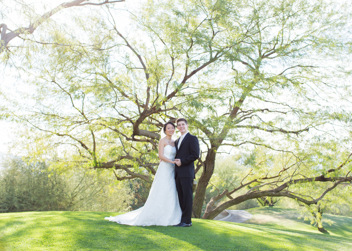 Bride and Groom, Desert Willow Golf Resort Wedding