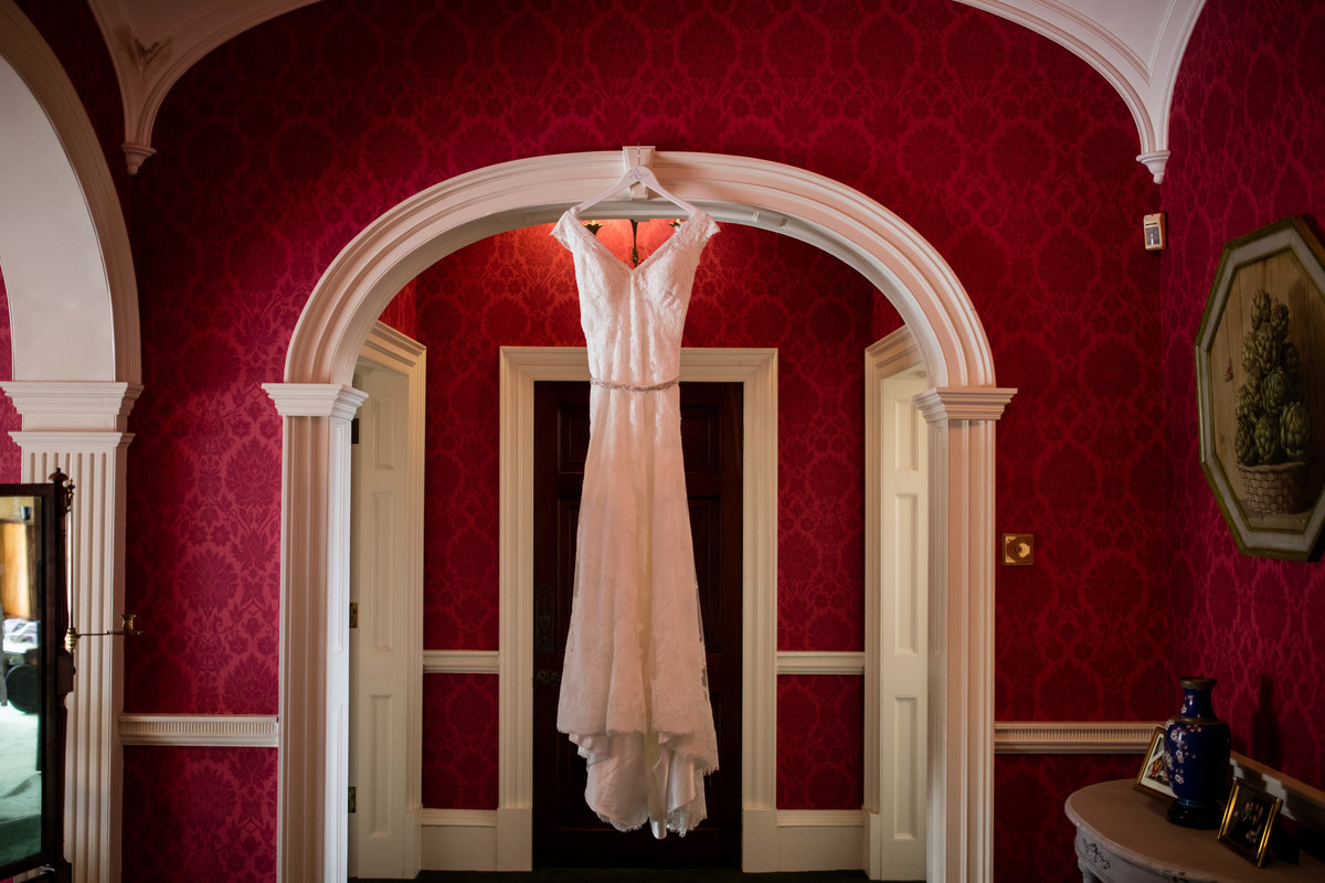 wedding dress at bridwell park devon