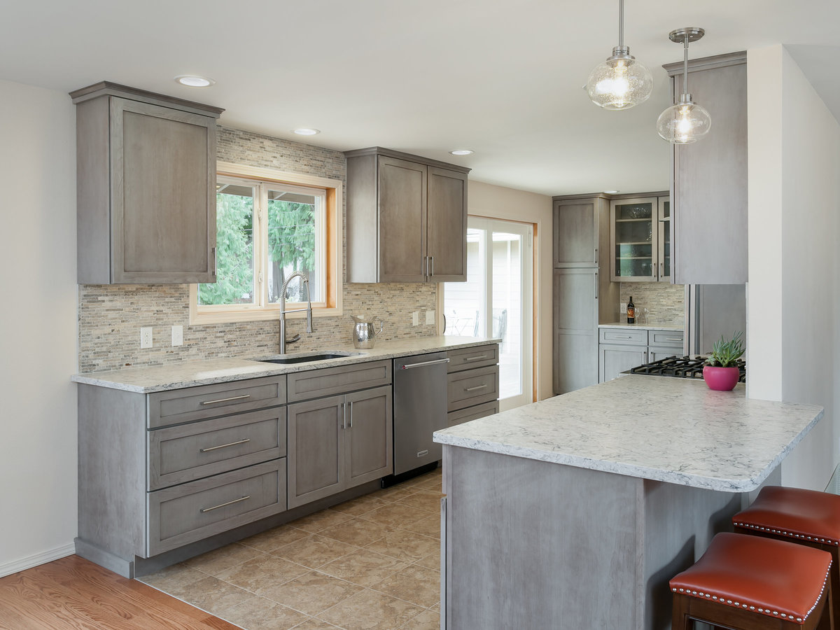 burien kitchen - remodel - gray