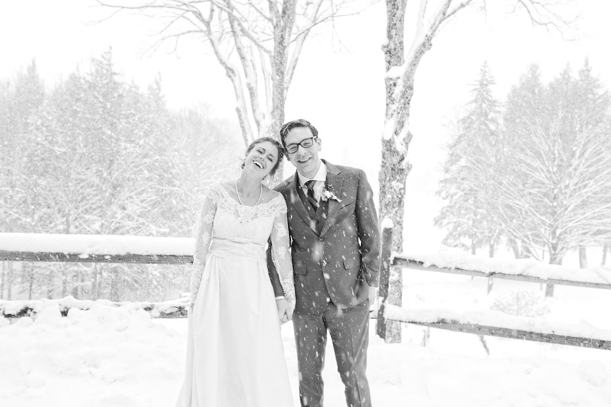Vermont blizzard wedding
