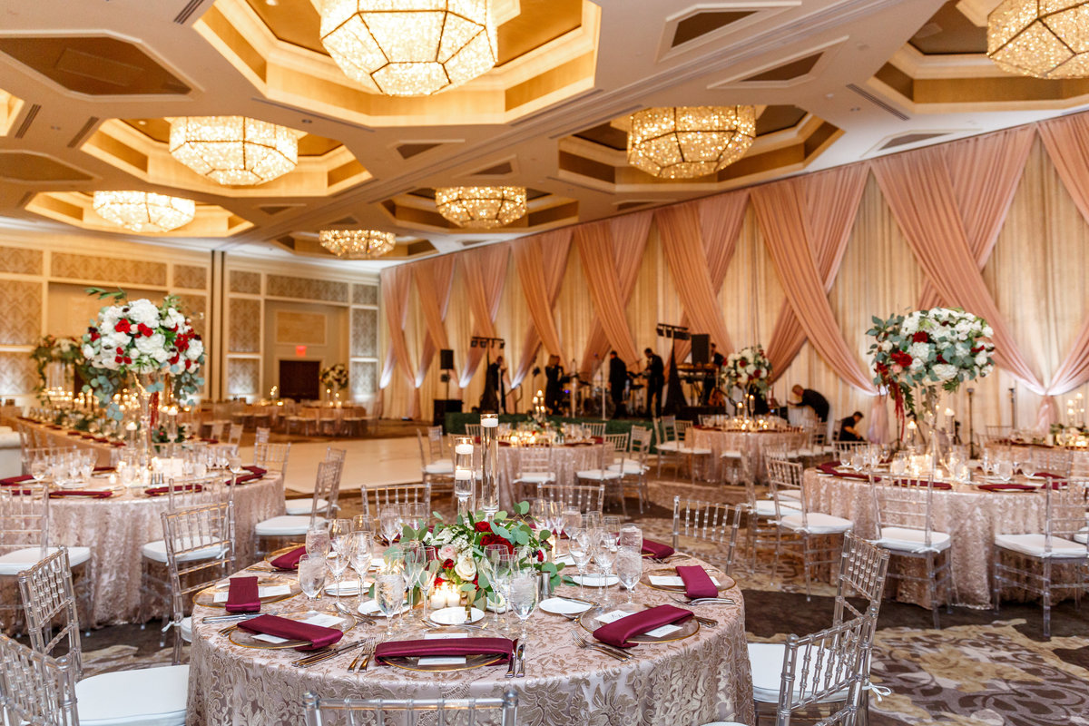 blush and burgundy wedding four seasons orlando