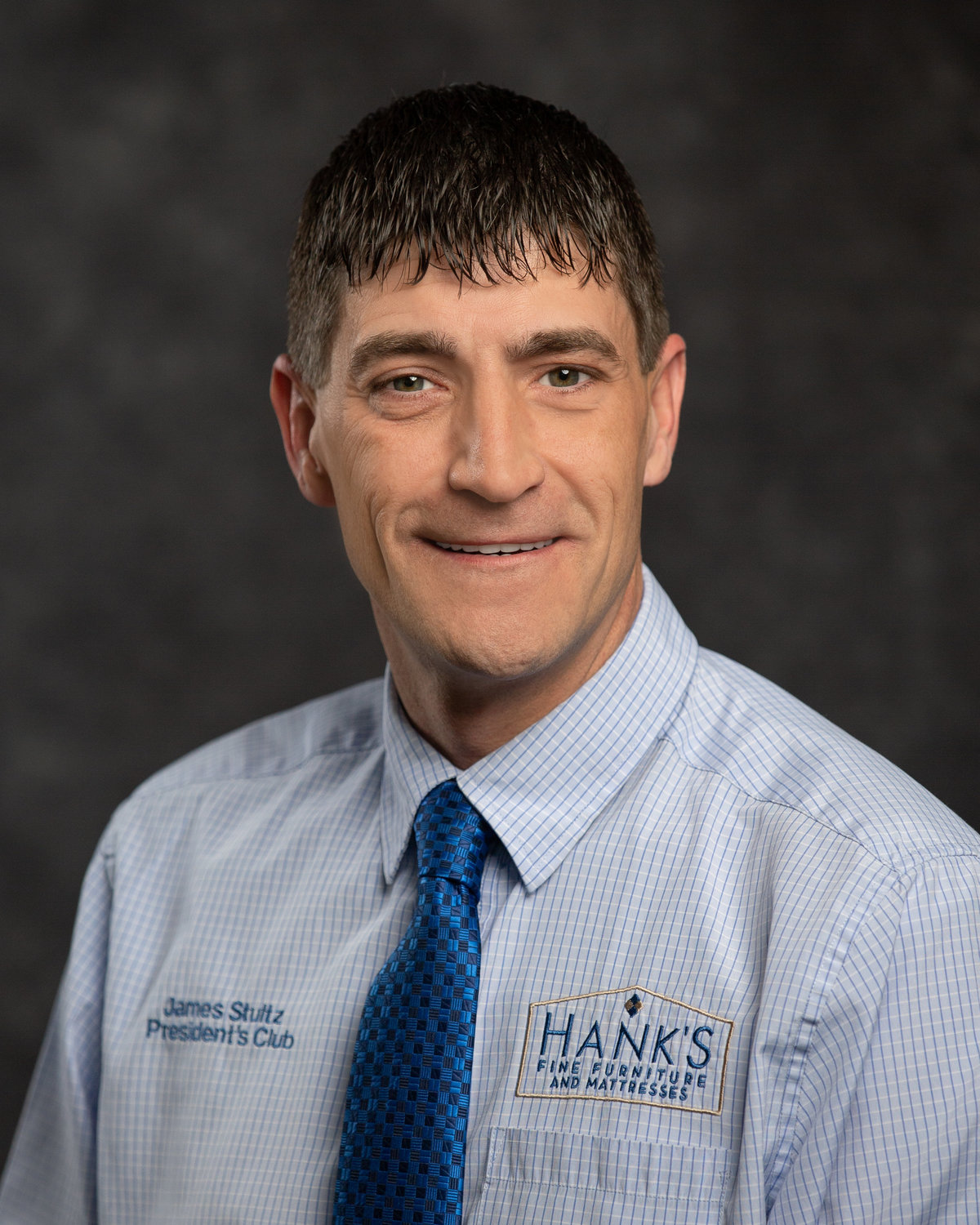 Head shot of James Stultz for Hanks Fine Furniture salesman of the year.