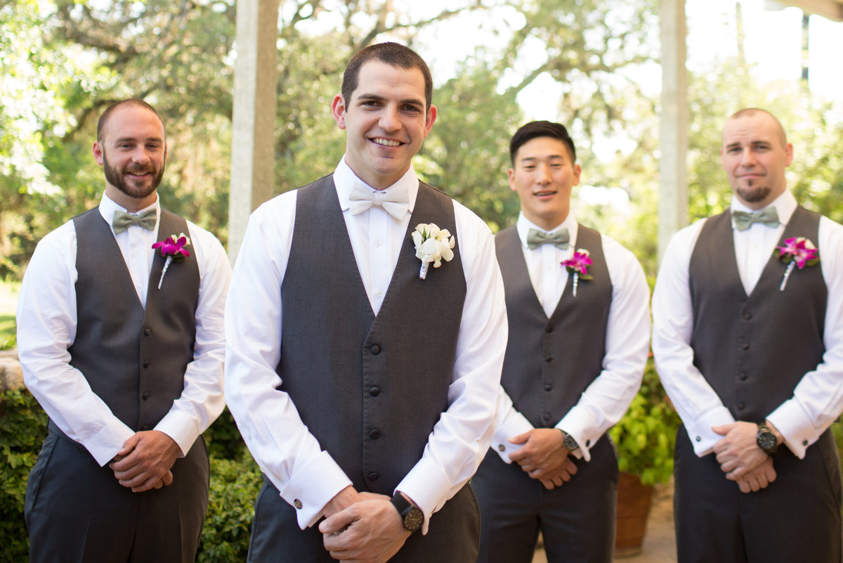Groomsmen  portraits river rock event center texas