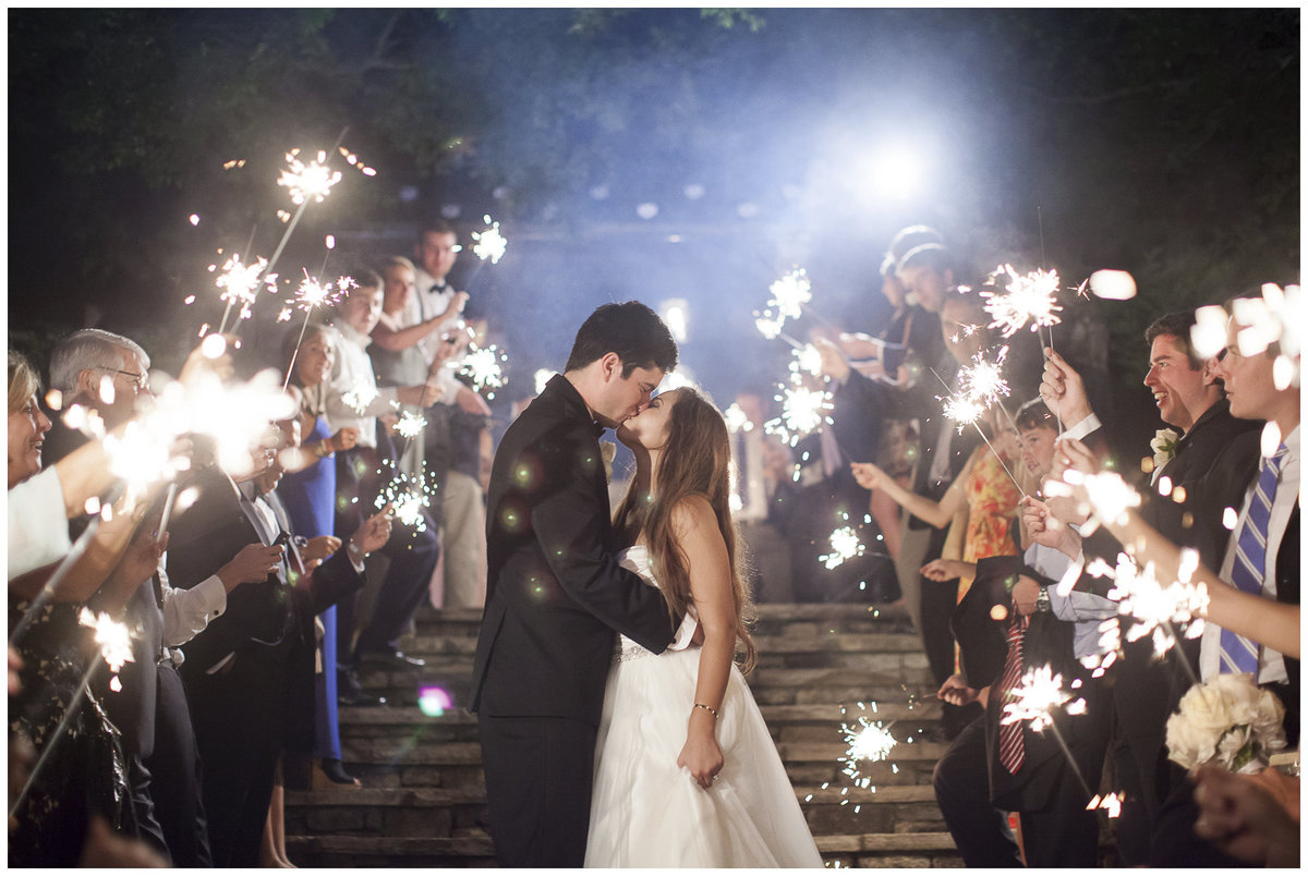 Sparkler Wedding Exit in Siesta Key Florida