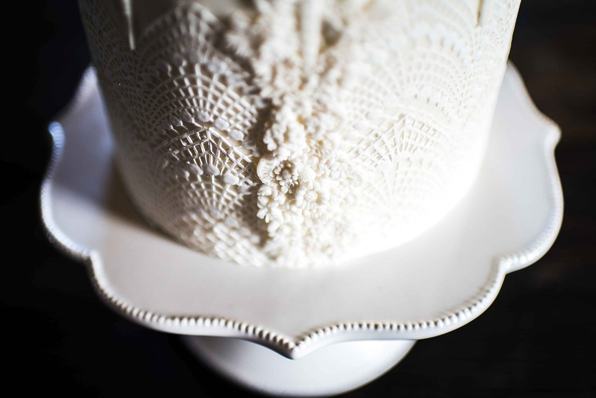 Wedding Cake with Bas Relief by Fleur and Flour