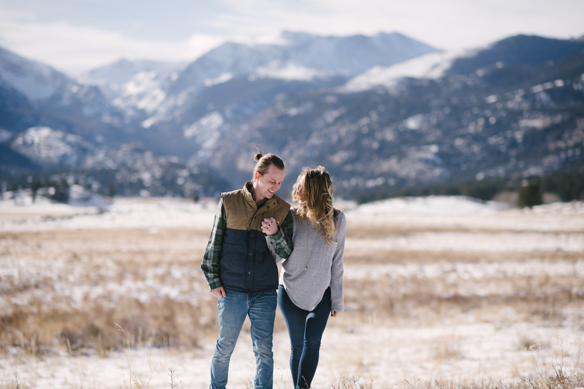 winter rmnp engagement