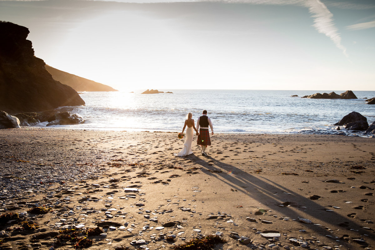 tunnels beaches wedding photography devon sunset