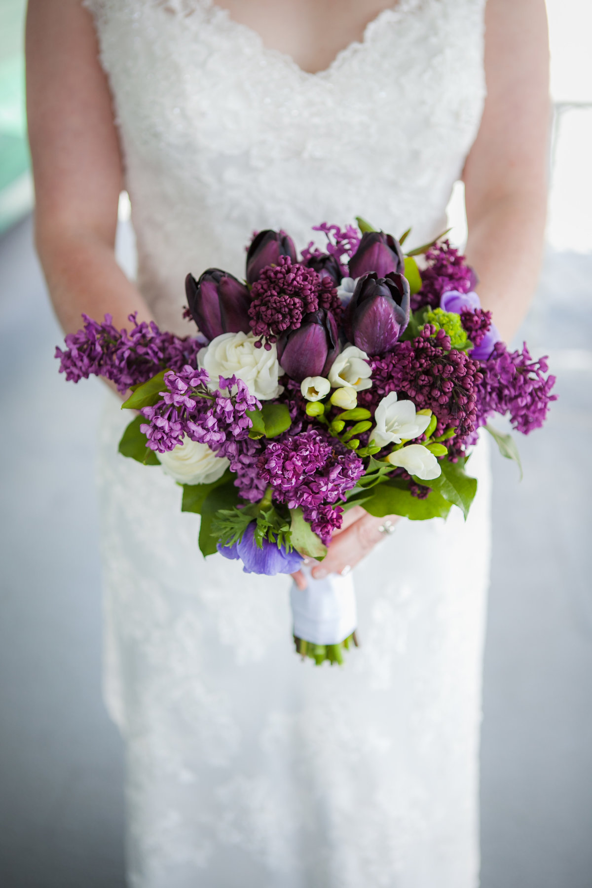 Austin Family Photographer, Tiffany Chapman, bride with purple flowers photo