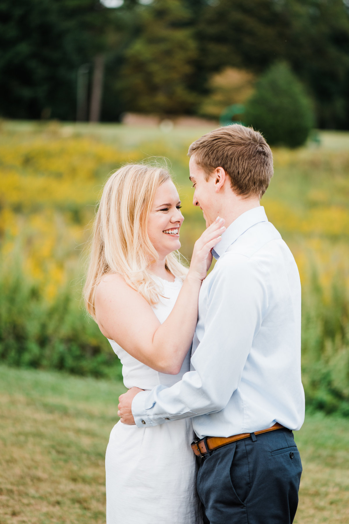 wake forest engagement photo