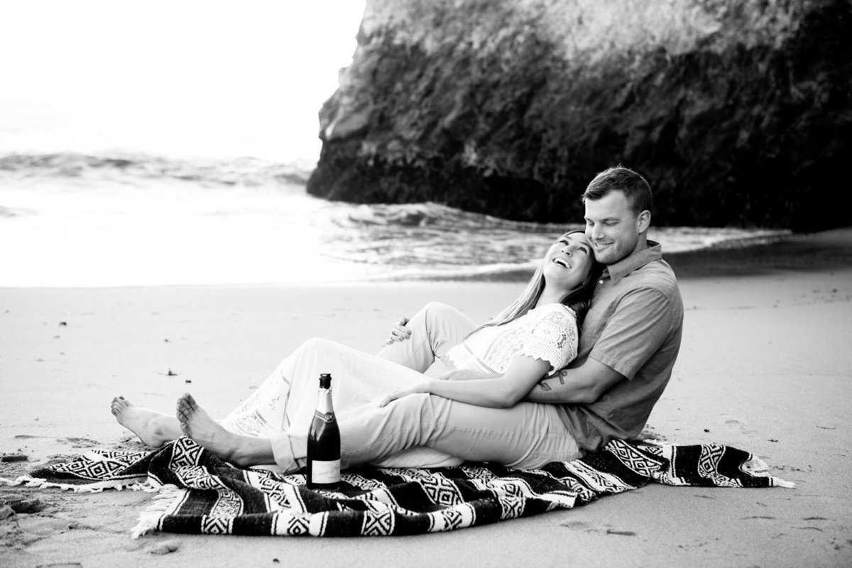 Engagement Photography at Davenport Beach California