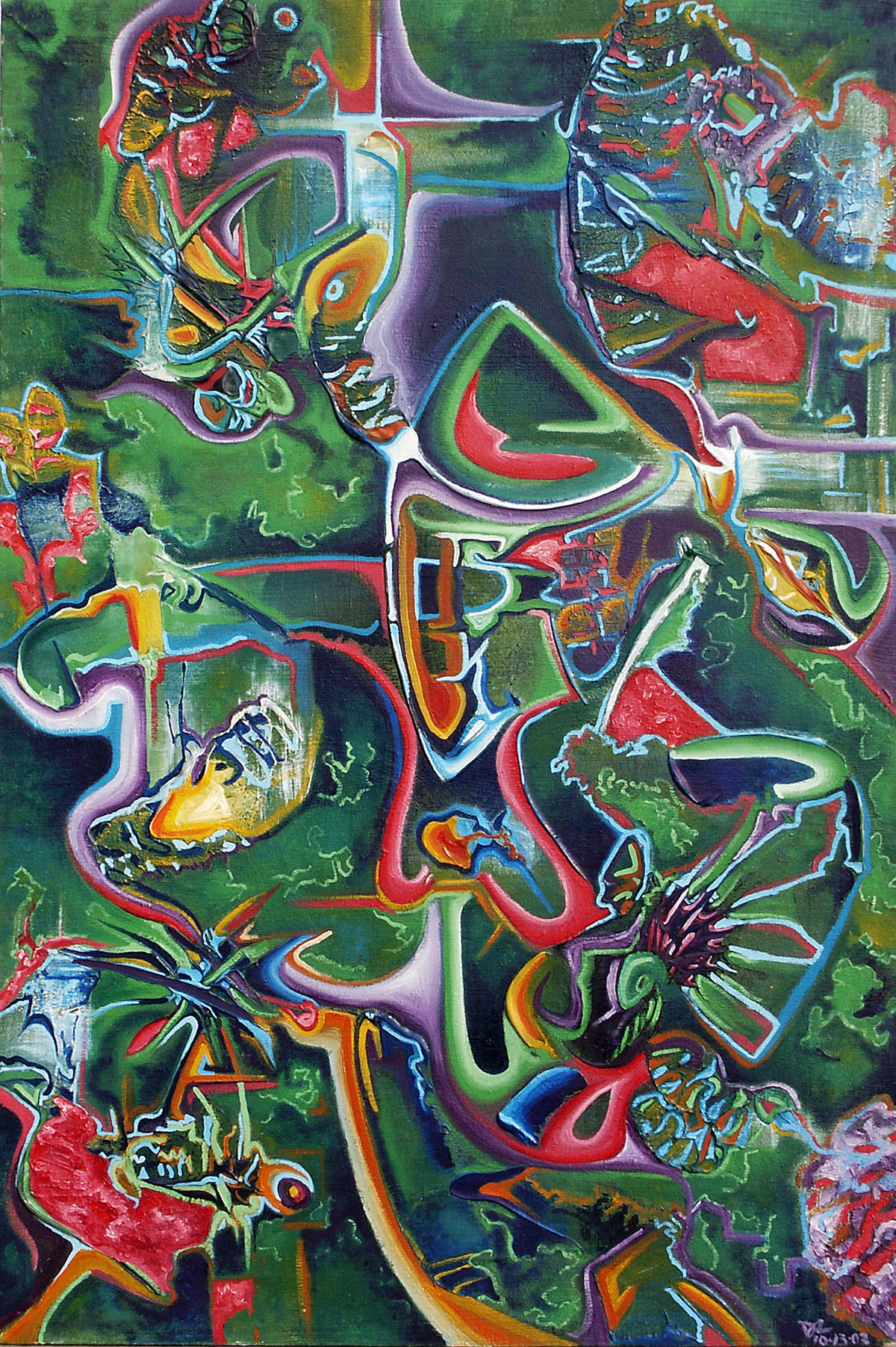 Danielle Zeigler - Green Abstraction - Fall 2003 - 24X40