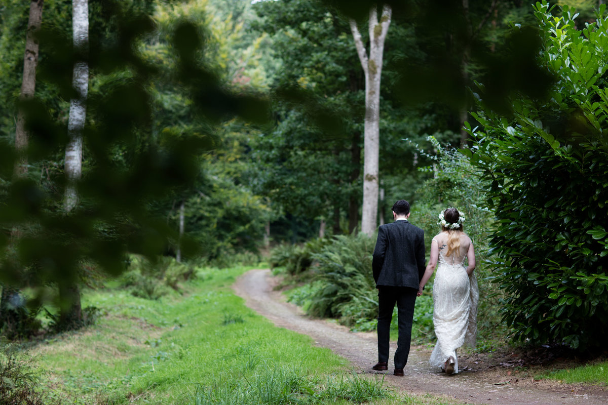 couple walking at hestercombe gardens wedding in somerset