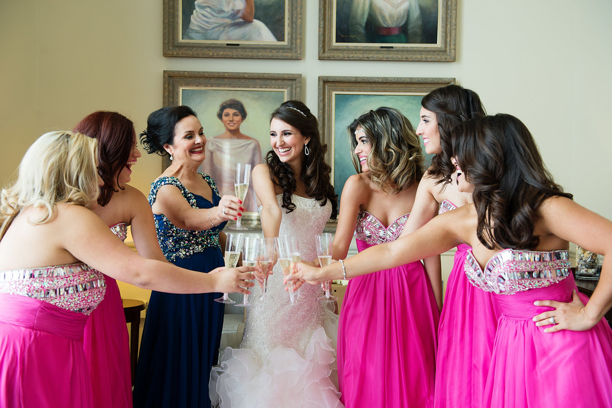 Fuschia bridal party dresses