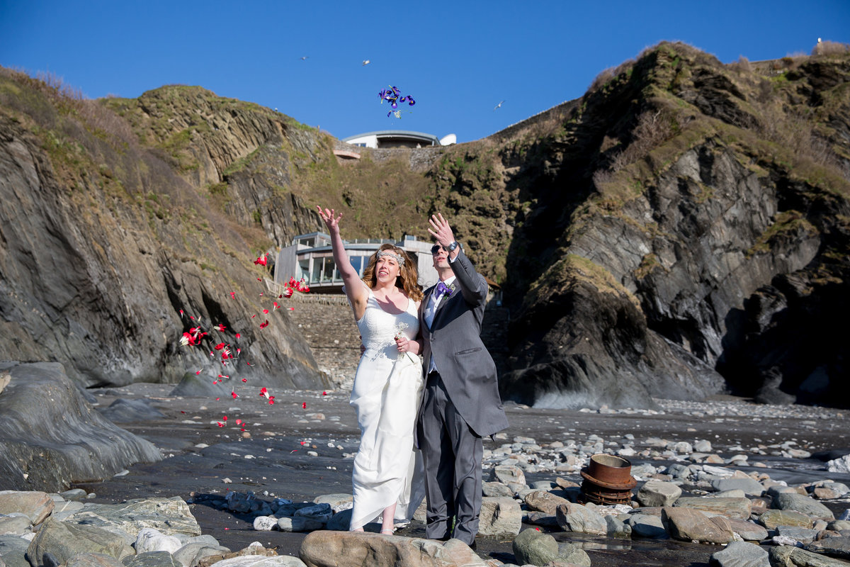tunnels beaches wedding photography north devon