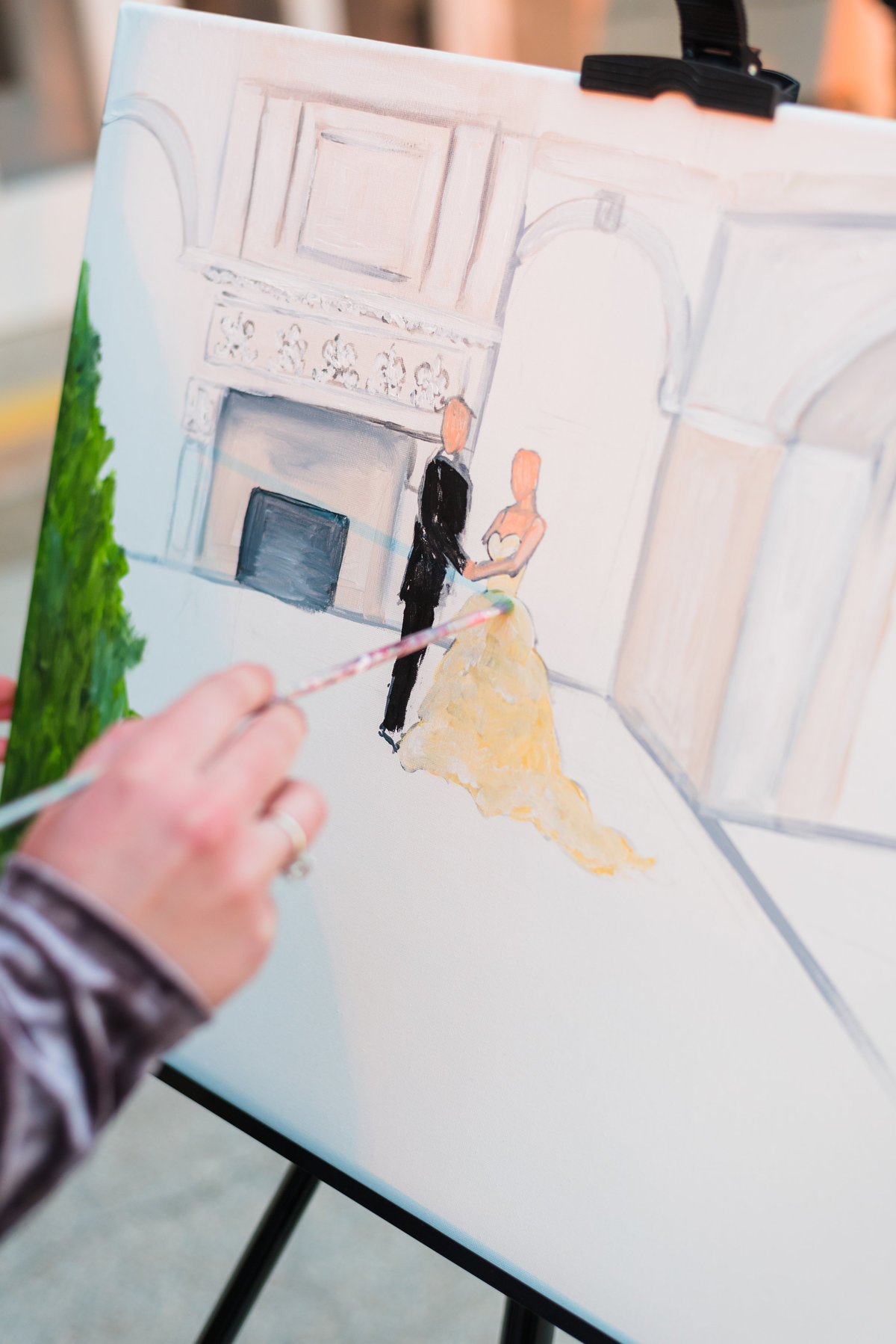 Liriodendron Mansion Live Wedding Painting Baltimore By Brittany Branson