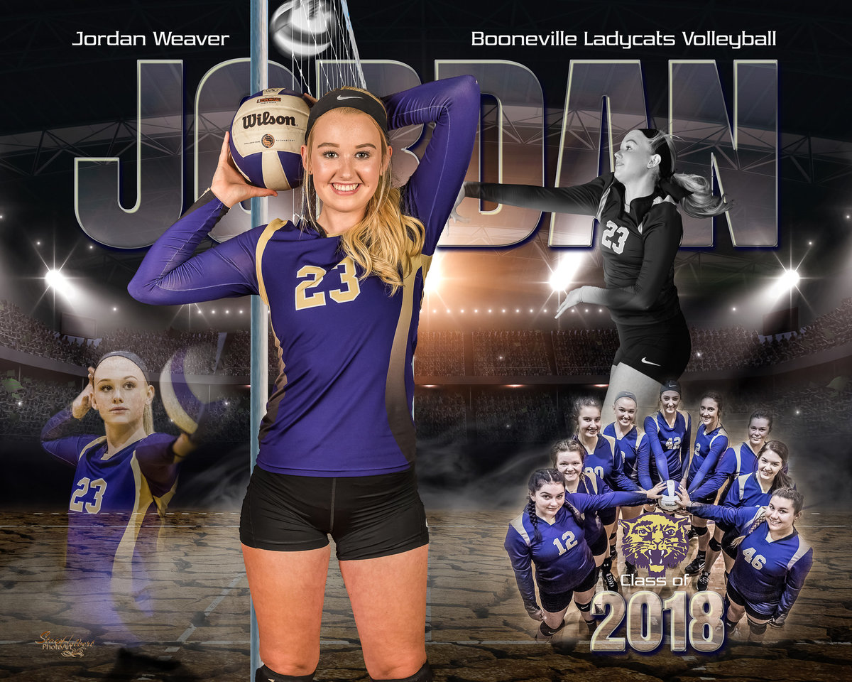 Sports Volleyball Composite. Photo by Stacy Holbert Booneville AR