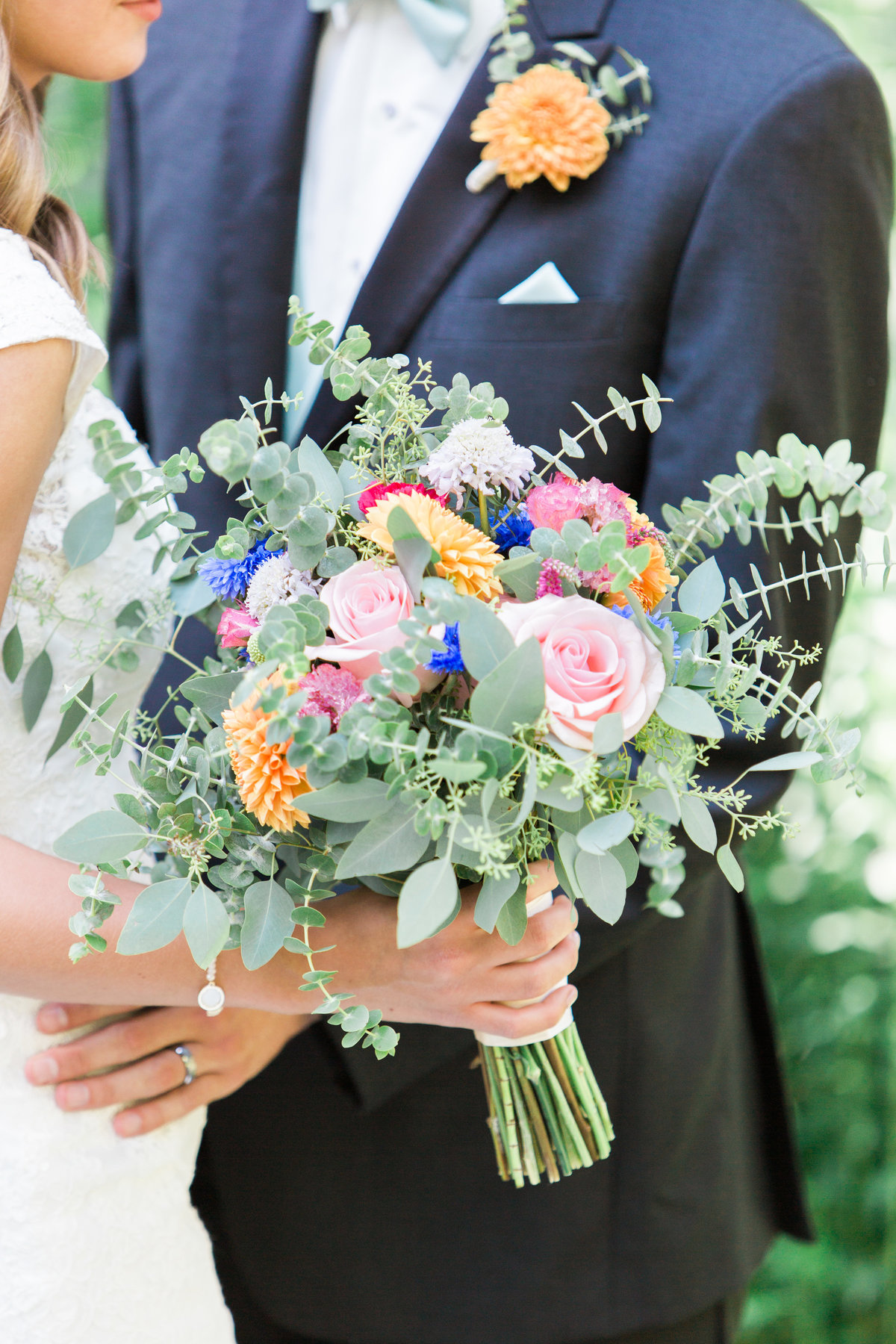 Charley Creek Gardens Wedding Eucalyptus Bouquet Photo