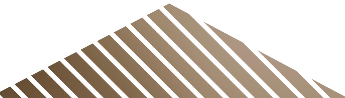 bronze stripped triangle