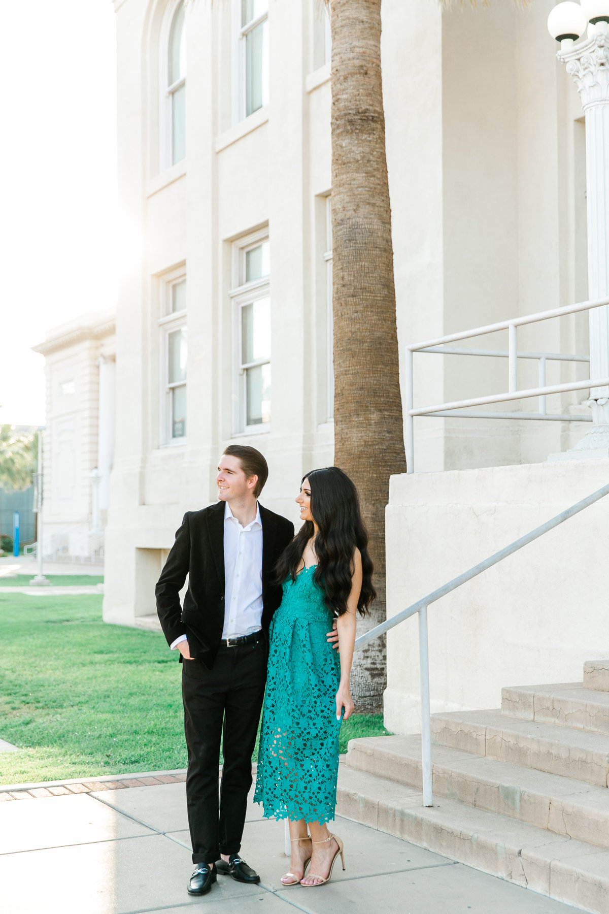 Karlie Colleen Photography - Arizona Engagement City Shoot - Kim & Tim-130