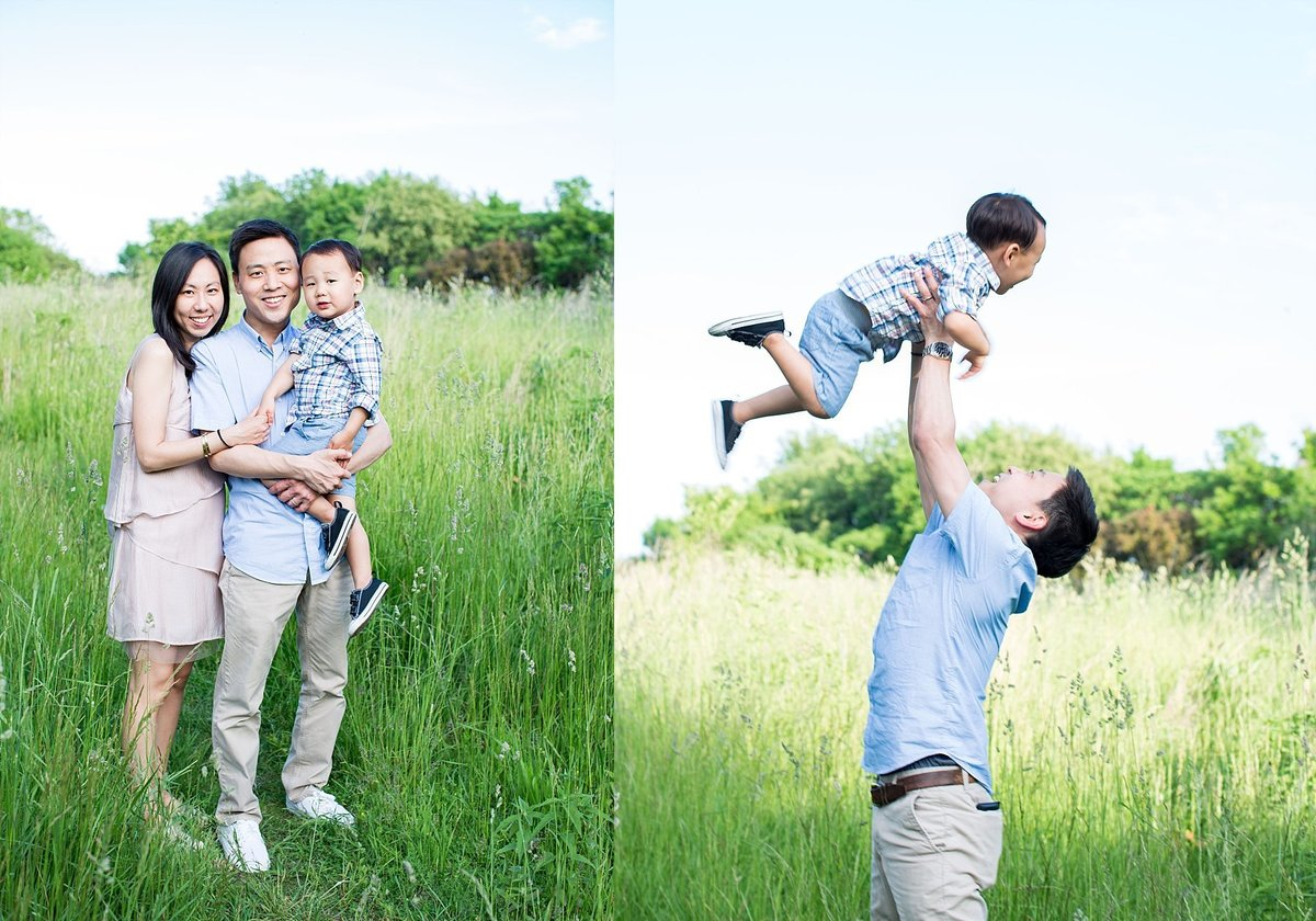 Chicago Family Photographer at Montrose Harbor during Golden Hour