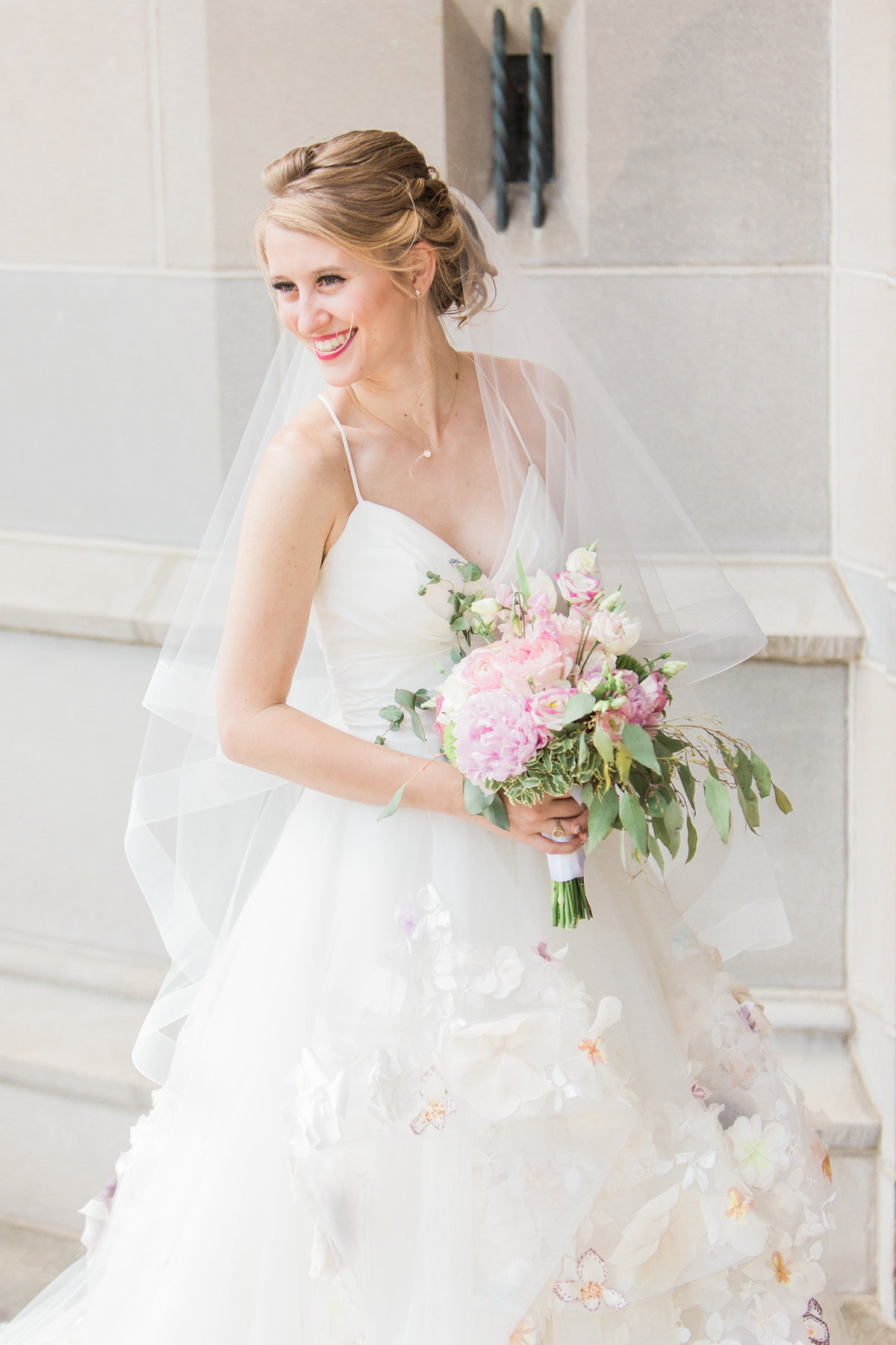 Basilica of the Sacred Heart Bride Laughing Photo