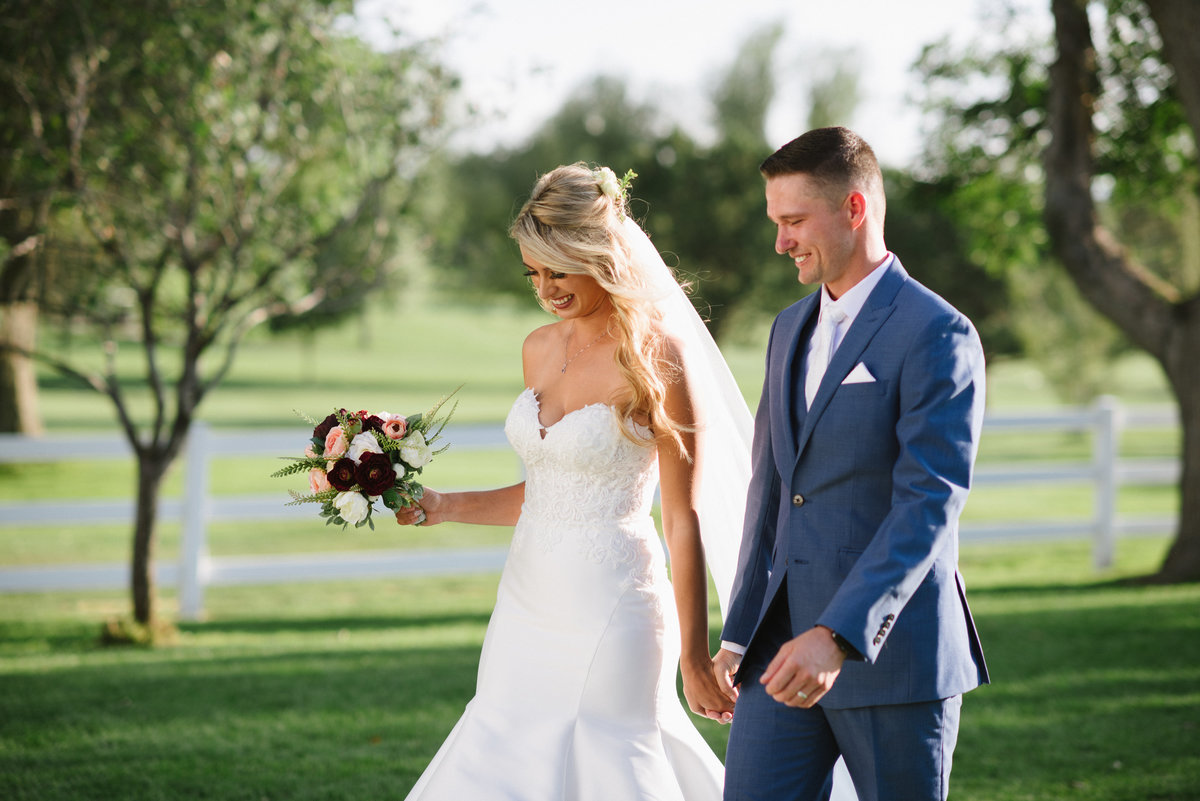 golf course farmhouse wedding