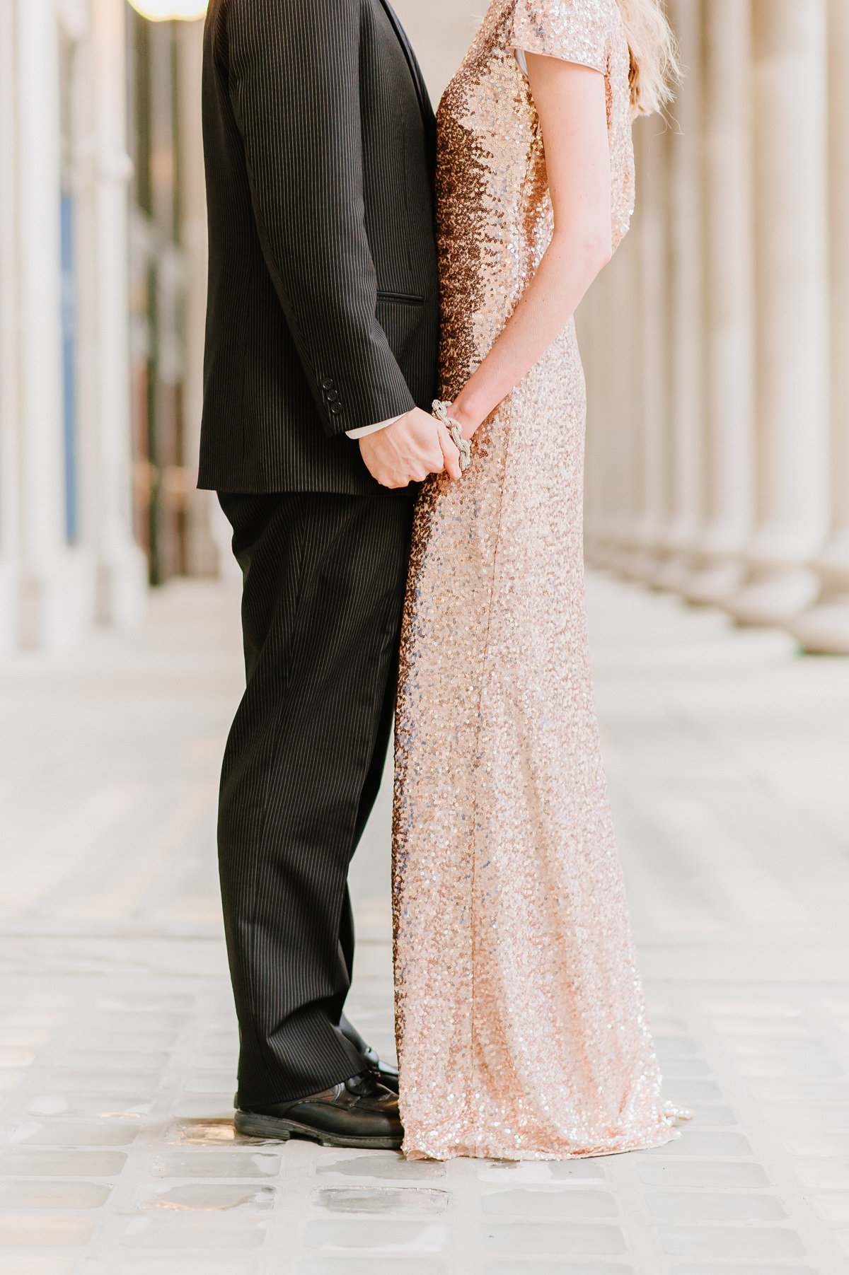 chicago-union-station-classy-photo-shoot-rose-gold-gown-rent-the-runway-photo-4