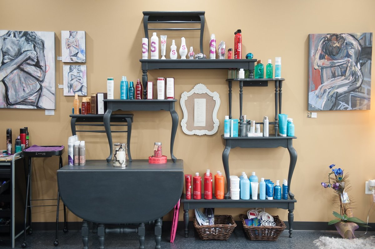 commercial photography showing beauty salon for their website