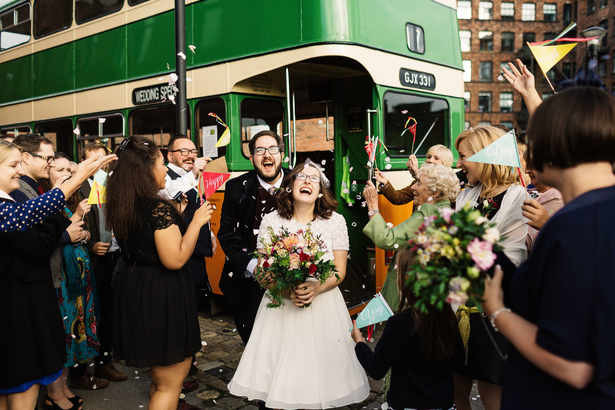 Wedding bus transport in Leeds City