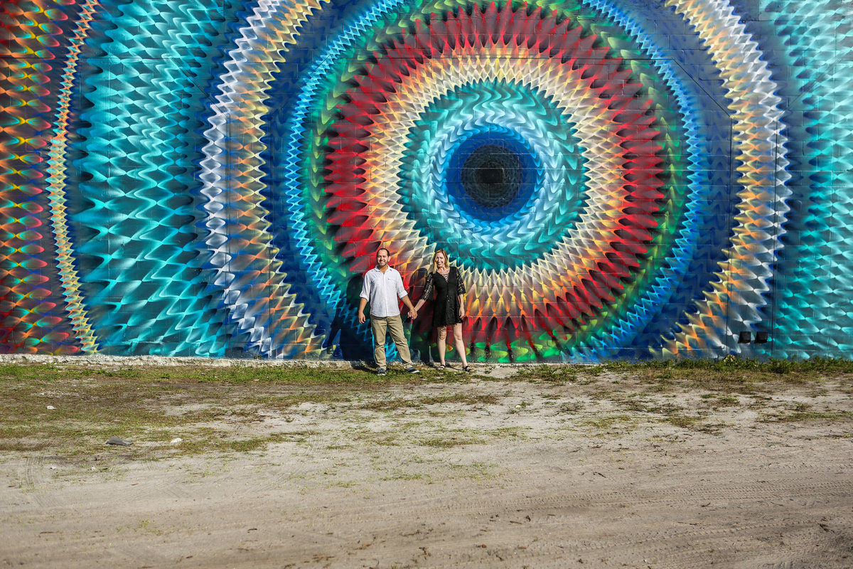 St Pete Engagement Photographer  St Pete Murals