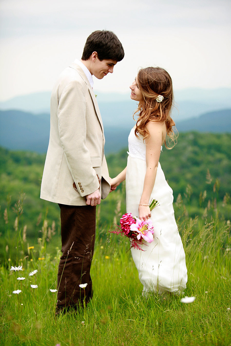 vermont wedding couple