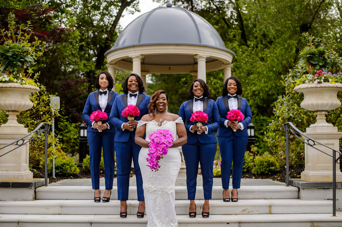 Viral NJ Wedding Bridesmaids in Tuxedos Same Sex 13