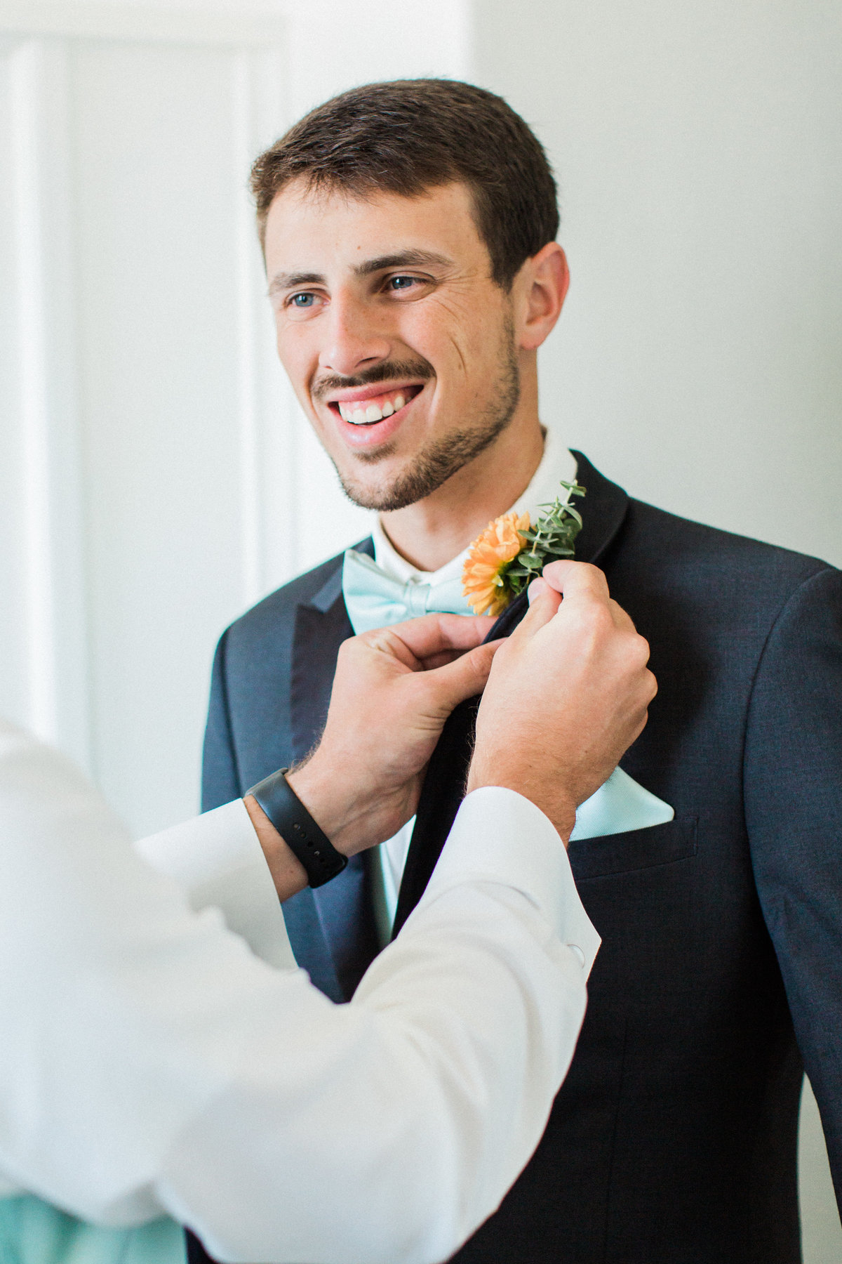Charley Creek Gardens Wedding Groom Getting Ready  Photo