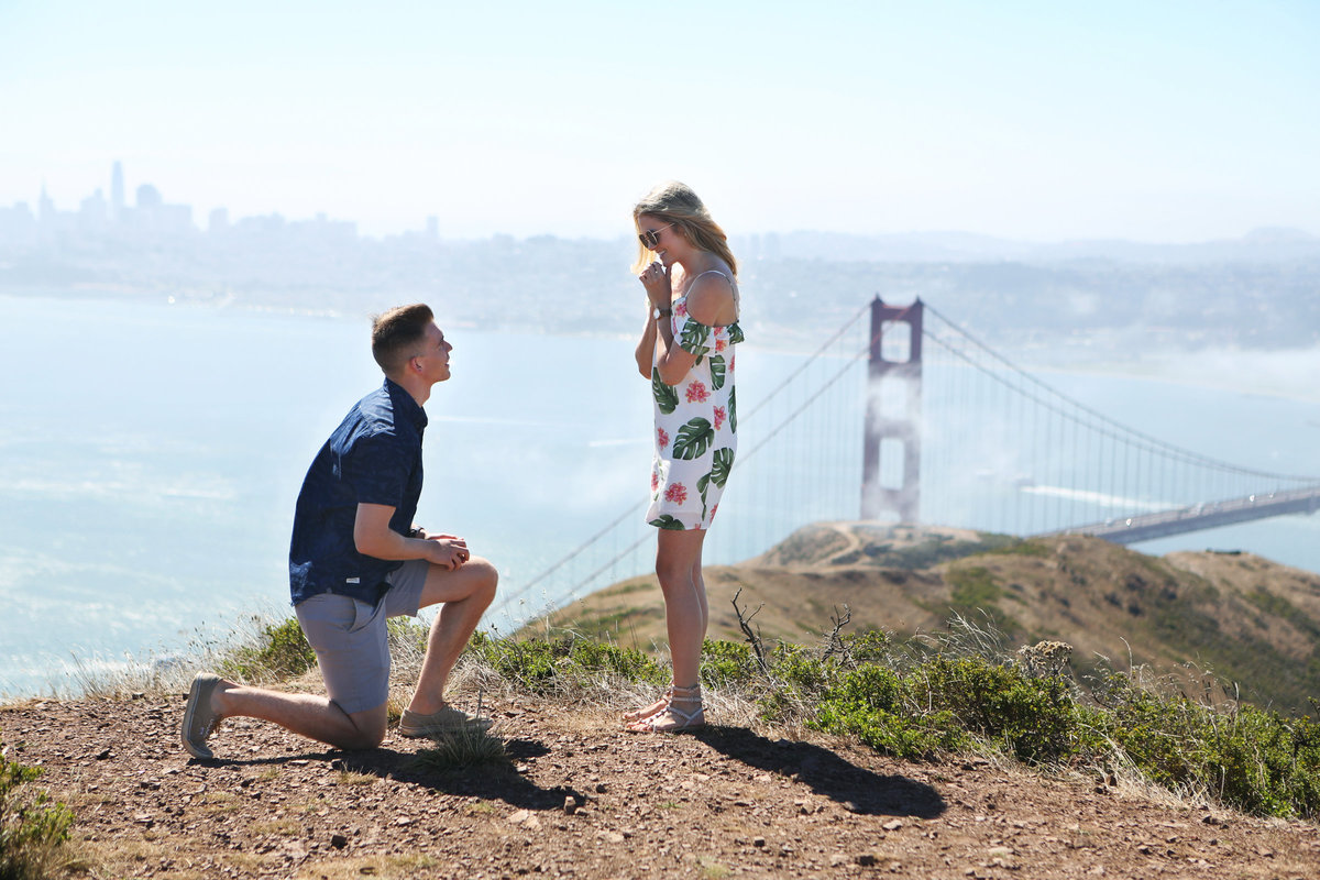 Proposal Photography Overlooking the Golden Gate Bridge in San Francisco