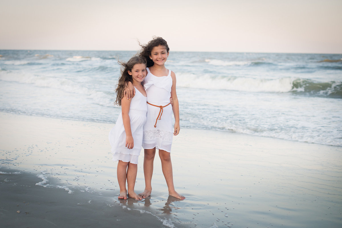 sisters on the beach in hilton head island