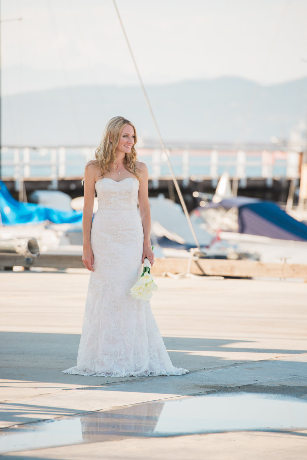 bride at  Vancouver Yacht Club wedding
