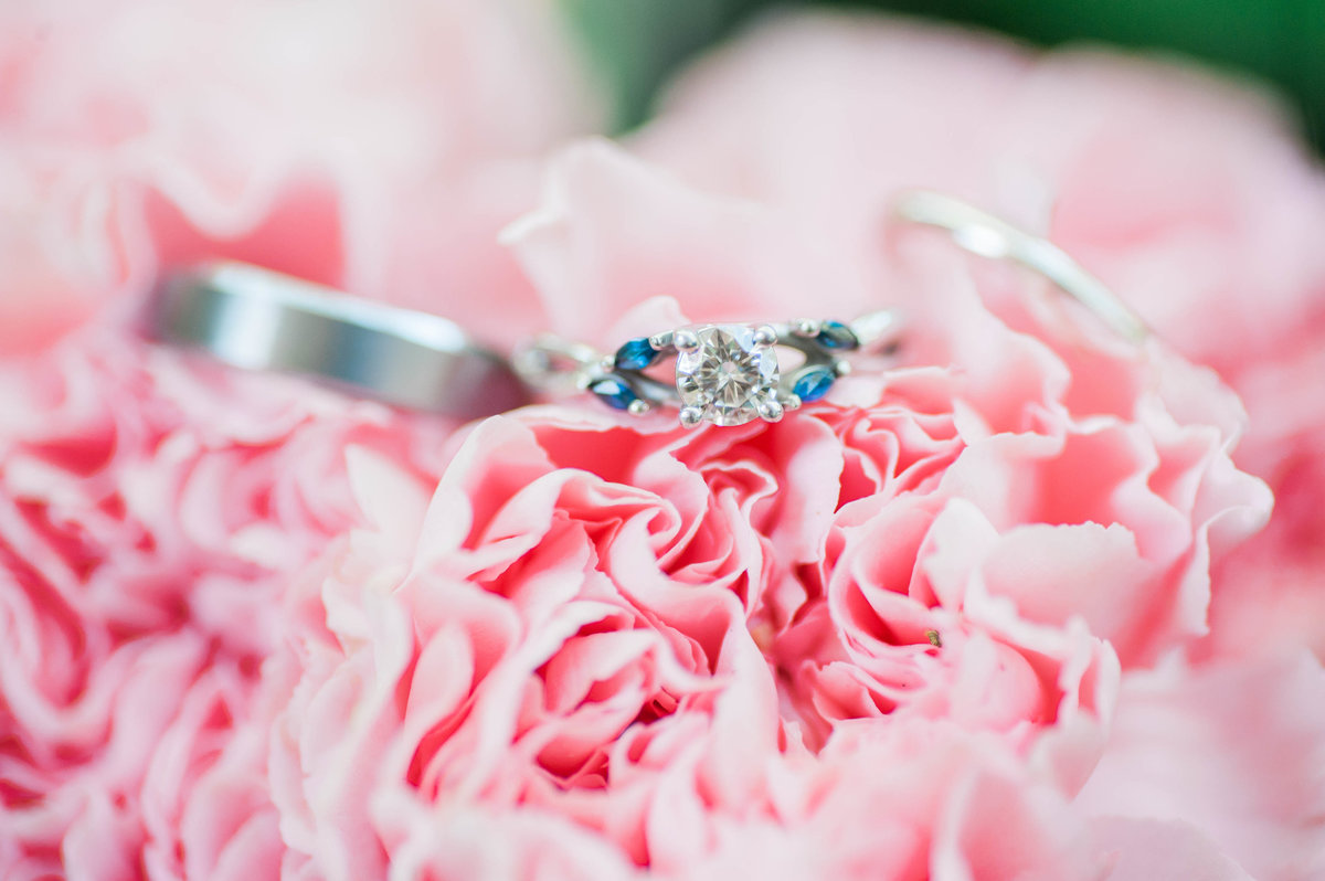 Blush and Navy Wedding Details