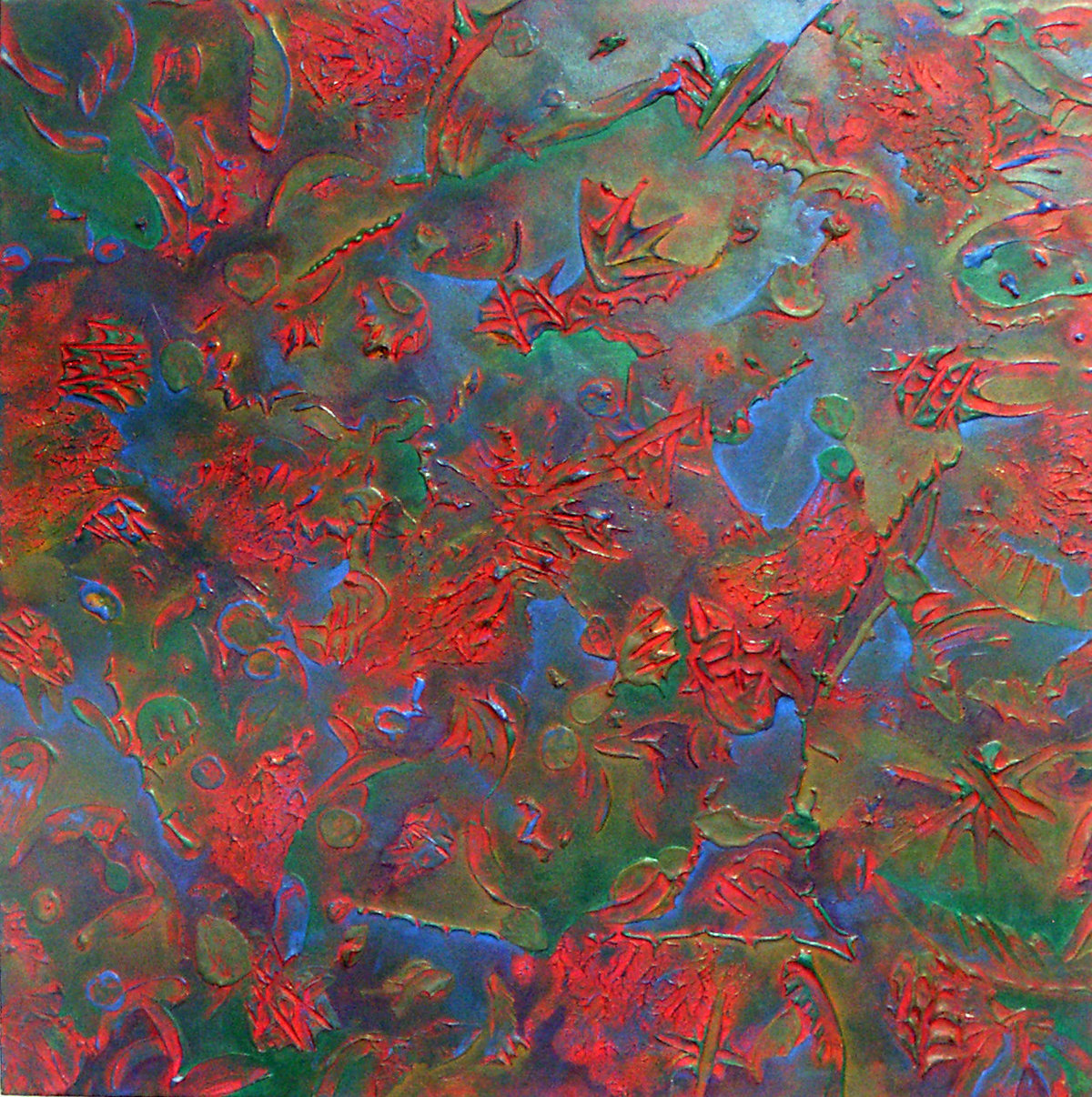 Danielle Zeigler - Color Atmosphere - Crimson - 34X34 - Fall 2005