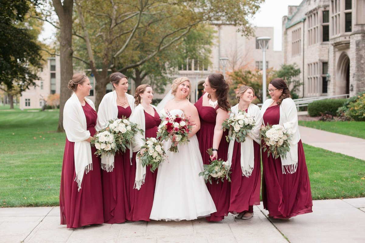 Burgundy and Rose Gold Fall Holland Garden Wedding with by Toledo and Detroit Based Wedding Photographers Kent & Stephanie Photography_1113