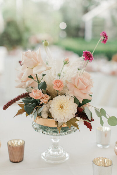close up of pretty table arrangements