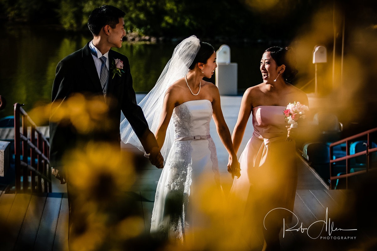 roballenphotography-bride-groom-maid-of-honor-moment