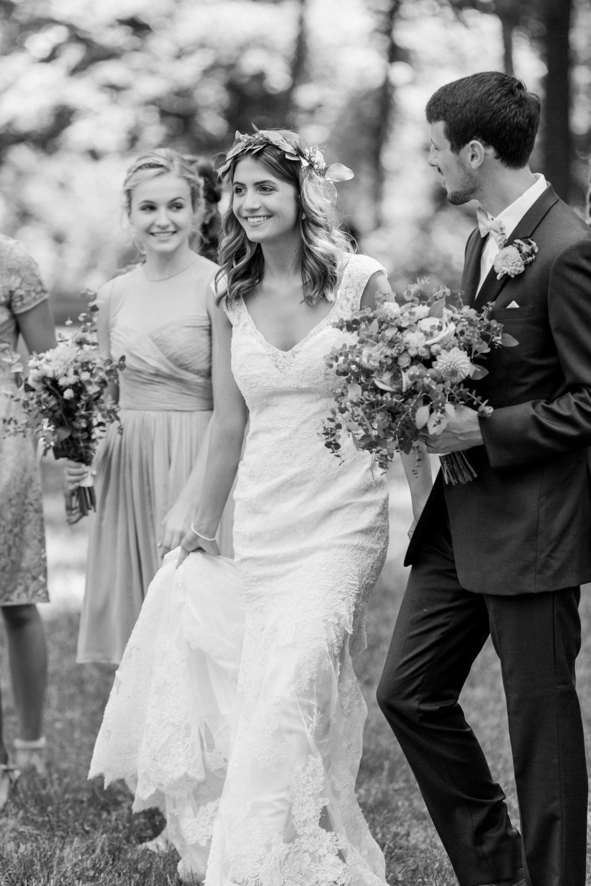 Charley Creek Gardens Wedding Bridal Party Photo